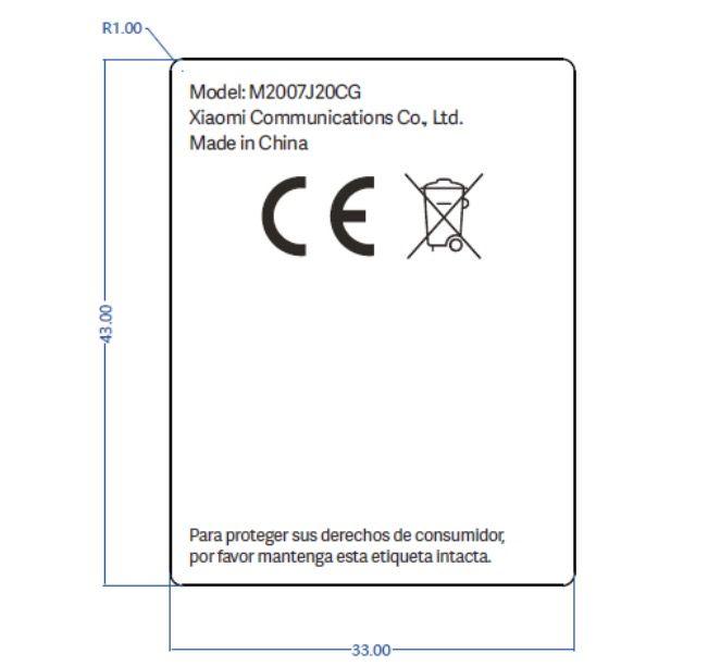 POCO-M2007J20CG - Label