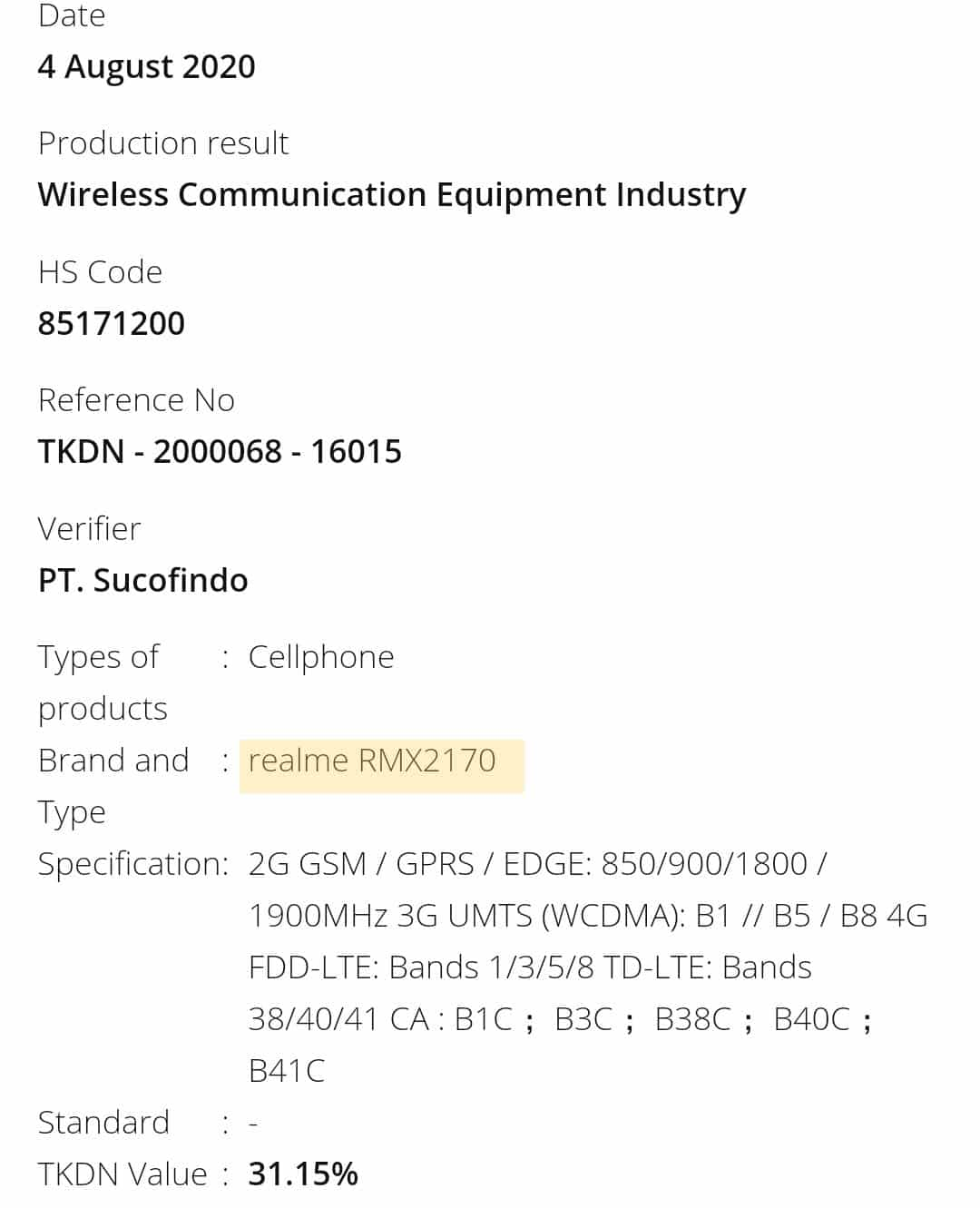 Realme X3 Pro (RMX2710) with 65W charging and dual cell battery gets TKDN Certification