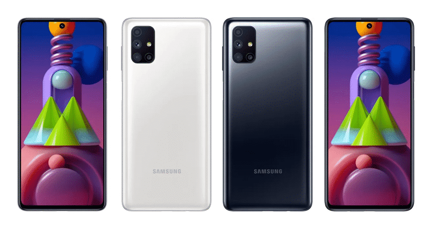 Samsung Galaxy M51 - Black and White colors