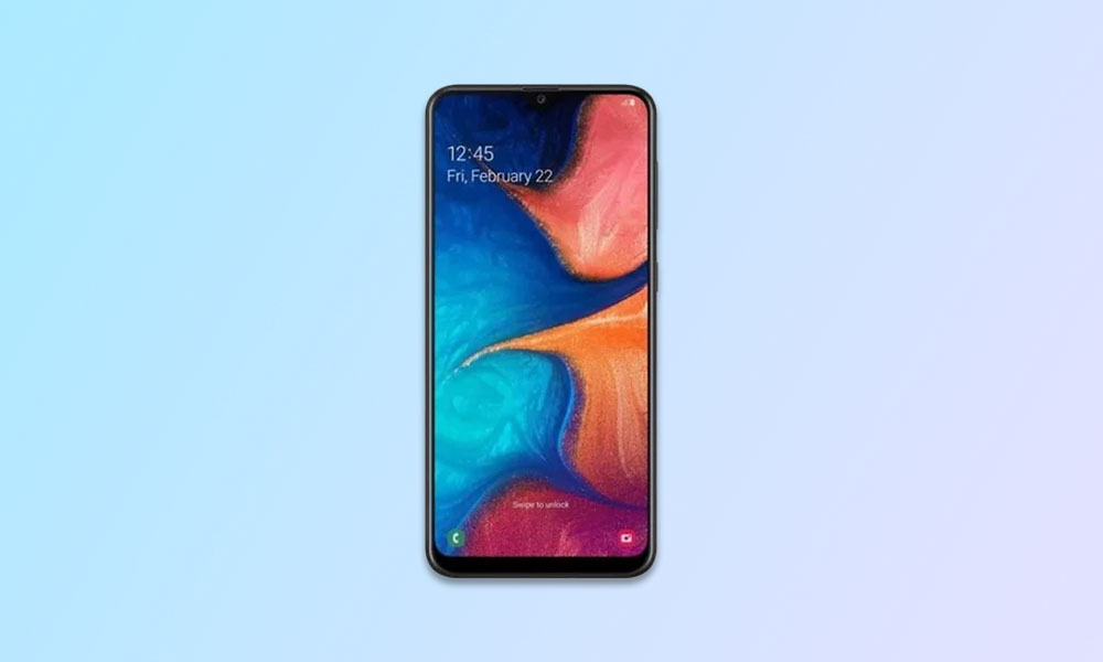 September Security Patch 2020: A205GNDXS7BTI2 For Galaxy A20