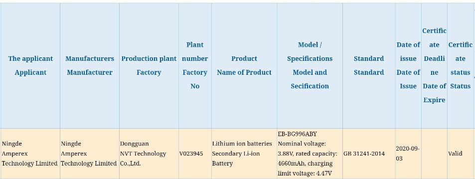 Samsung Galaxy S21 Plus battery