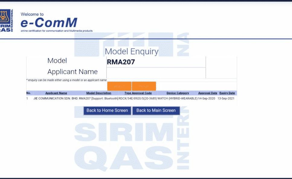 Sirim certificate