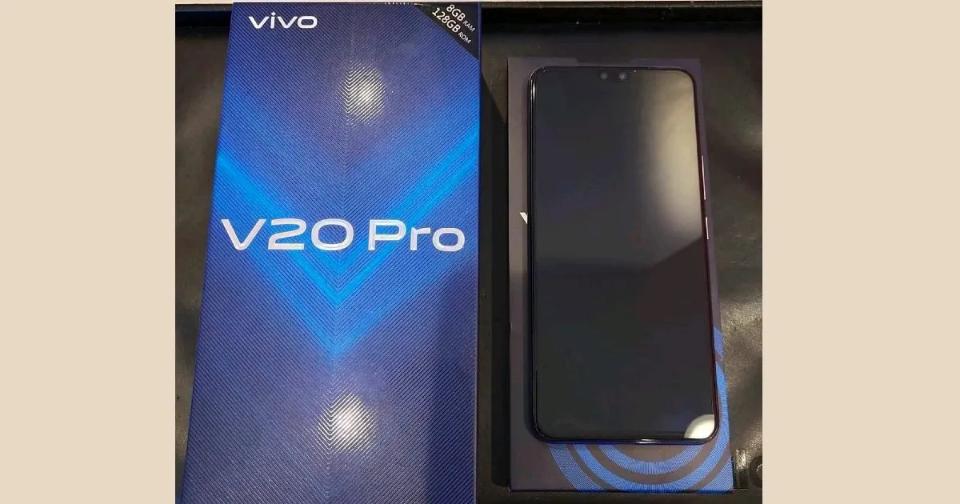 Vivo V20 Pro - live image