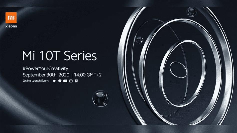 Xiaomi Mi 10T series launch date