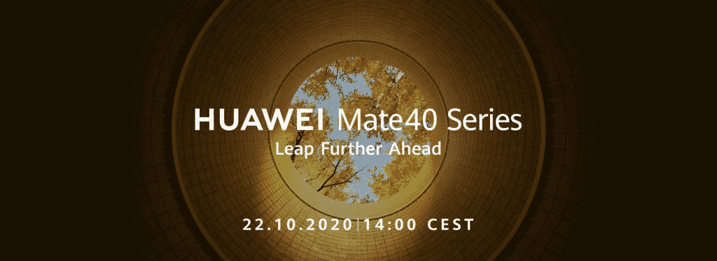 Huawei Mate40 series launch date poster