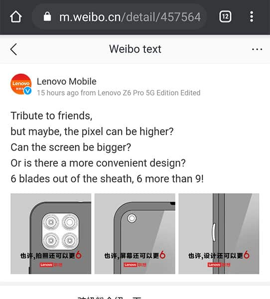 Lenovo teases it's upcoming smartphones design, reveals triple cameras and more
