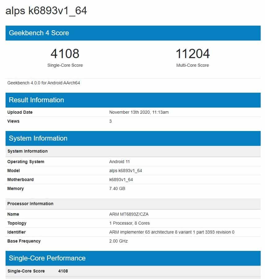 MediaTek's 6nm MT6893 chipset is more powerful than Dimensity 1000+ SoC