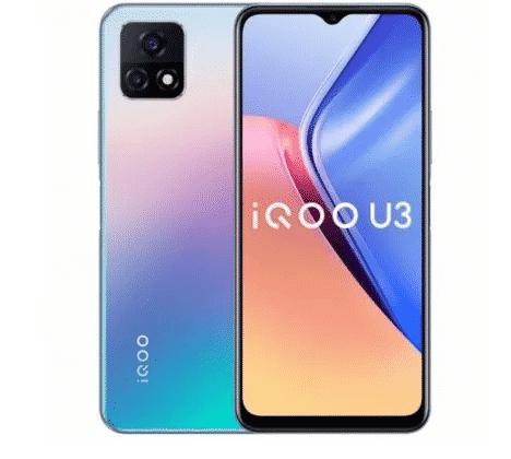 IQOO U3 in Glow Blue color