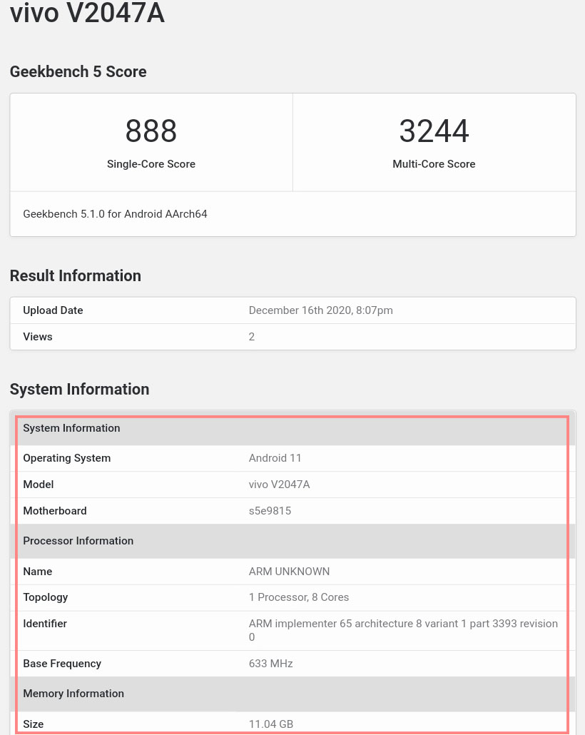 Vivo X60 visits Geekbench With 12GB RAM and Exynos 1080