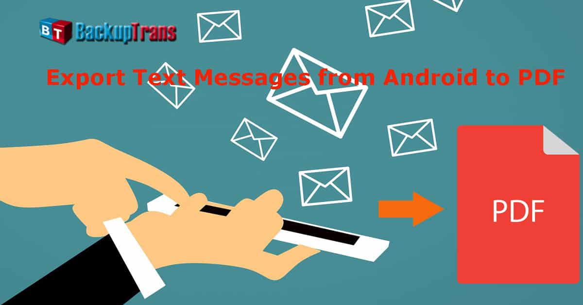 Export Android Messages To PDF