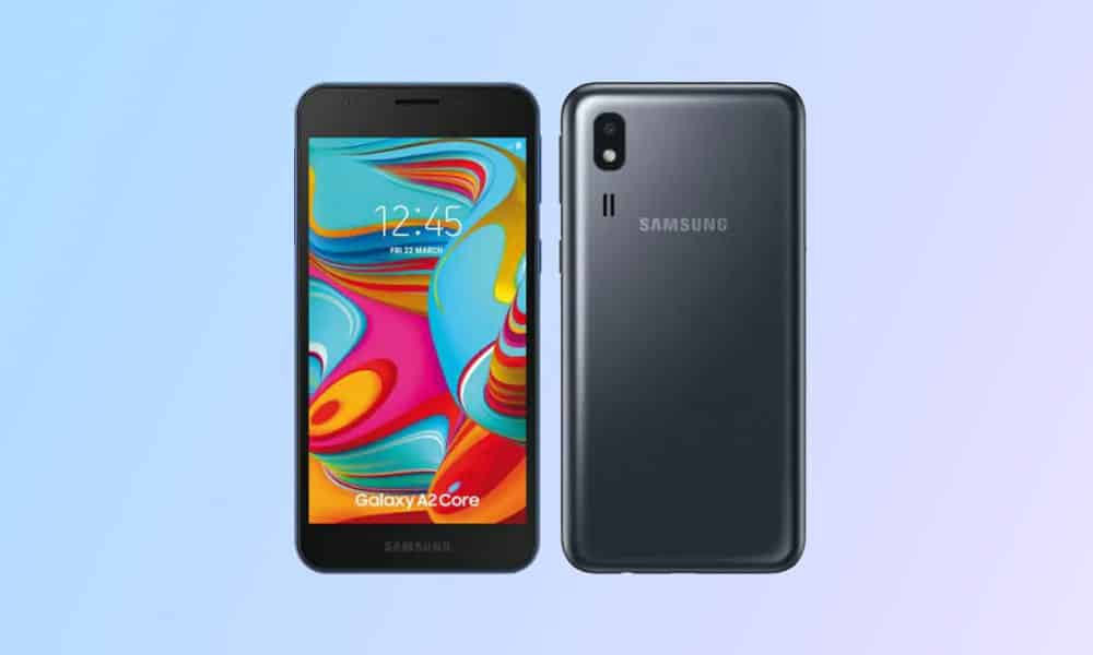 A260FXXS9AUA1 - Galaxy A2 Core January 2021 security patch update (India)