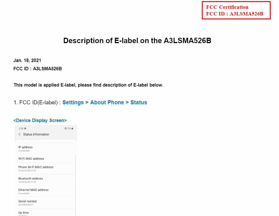 Samsung Galaxy A52 5G with 4370 mAh battery spotted on FCC certification