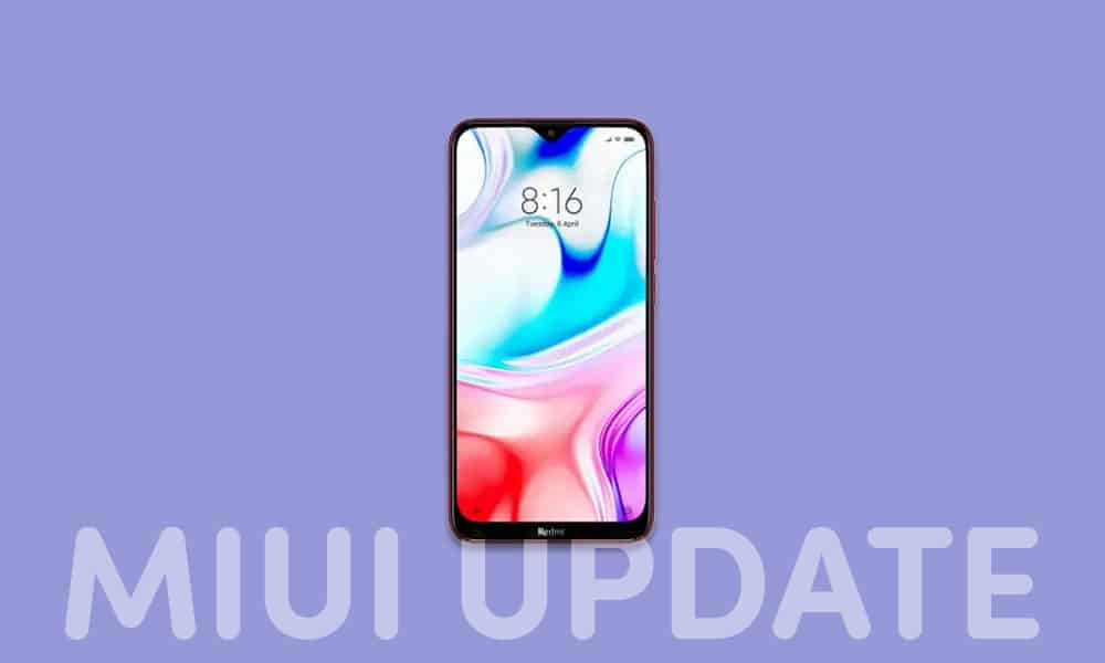 V12.0.1.0.QCNINXM: Redmi 8 India Stable ROM - January 2021 security patch