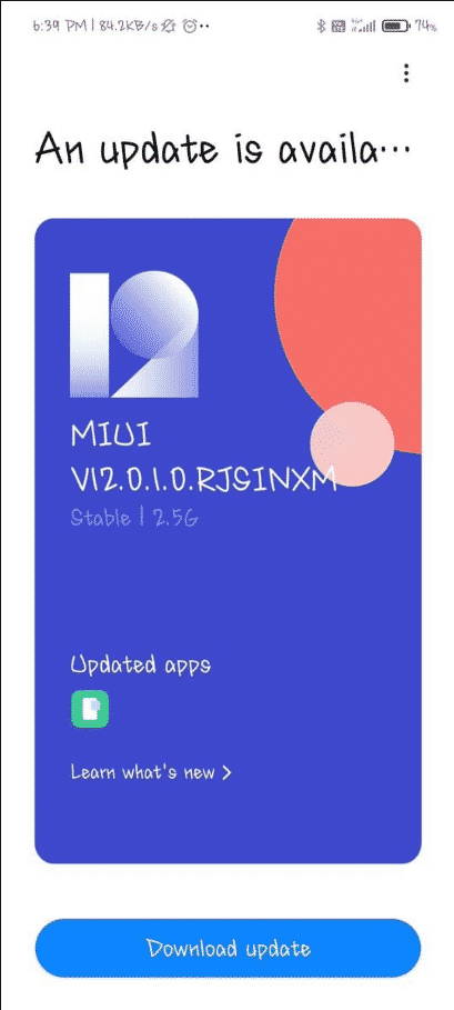 Xiaomi Mi 10i 5G Android 11 update