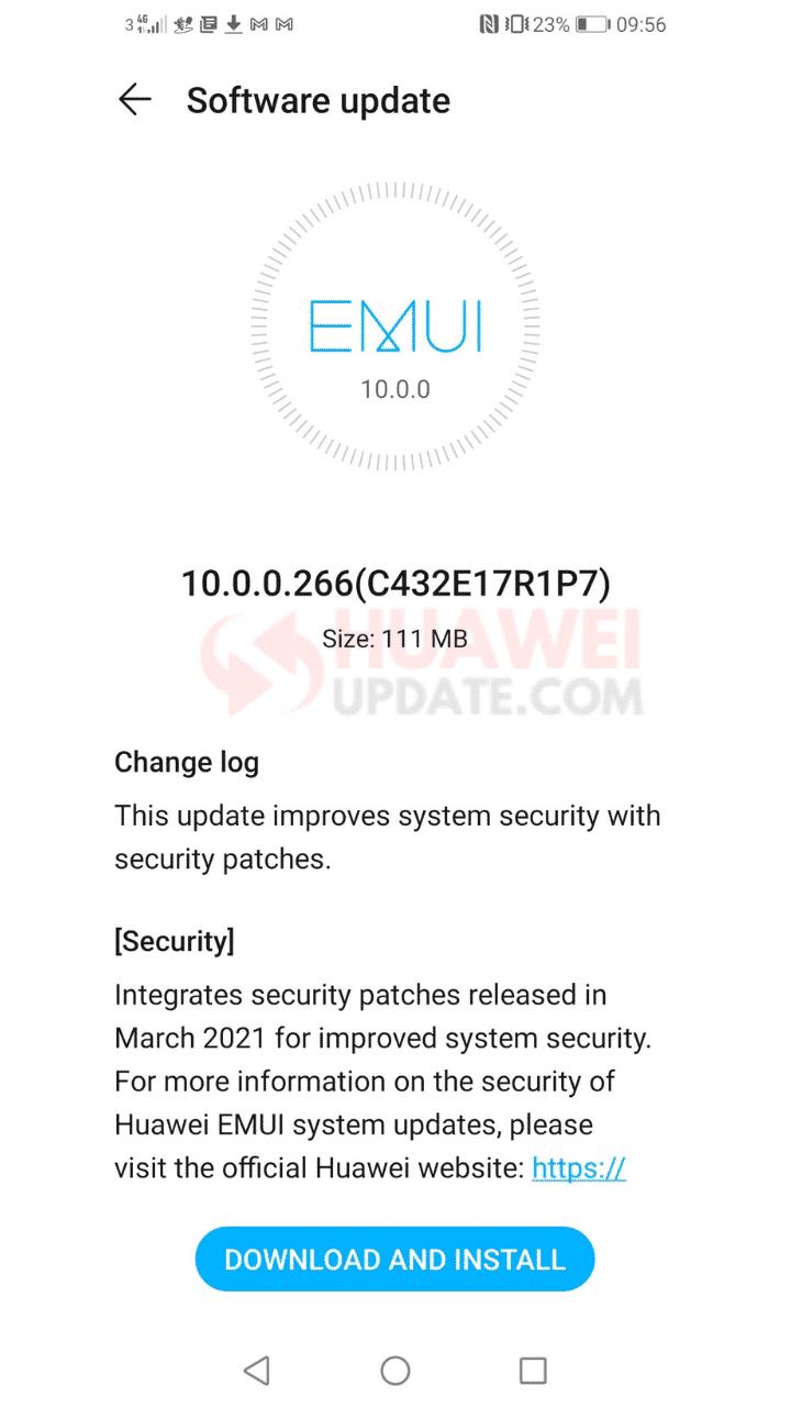 Honor 10 Lite EMUI 10.0.0.266 changelog