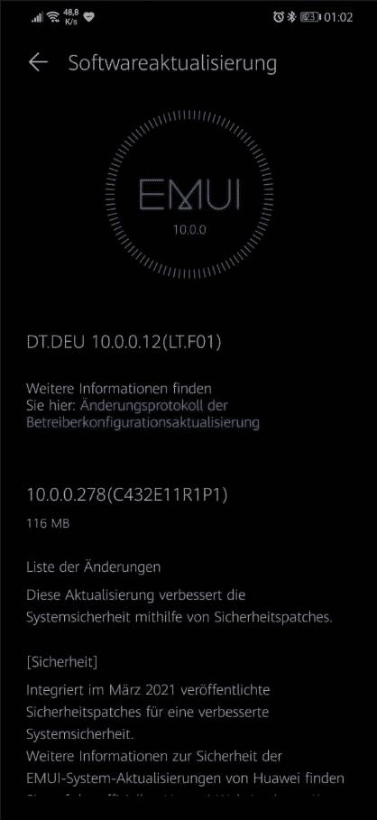 Huawei Mate 20 Lite - March 2021 security update