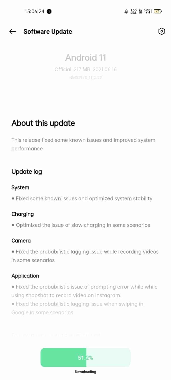 Realme 7 Pro - RMX2170_11_C.22 update