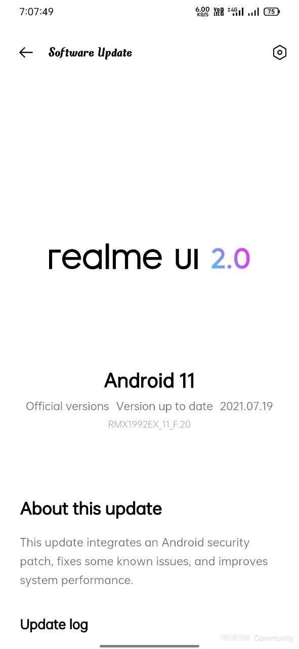 Realme X2 Android 11 update changelog